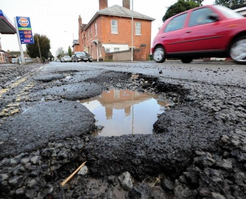 Pothole in uk