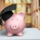 student saving money